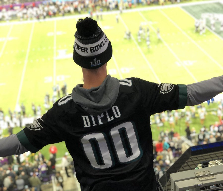 Diplo Headlines The Eagles' Super Bowl After Party & The Videos Are Insane