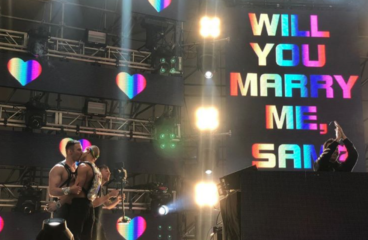 Adorable Gay Couple Gets Engaged During Spring Awakening Set