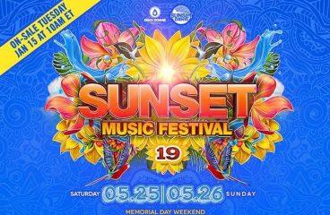 Sunset Music Festival Drops Impressive 2019 Lineup