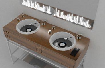 Italian Design Company Reveals Vinyl-Inspired Bathroom Collection