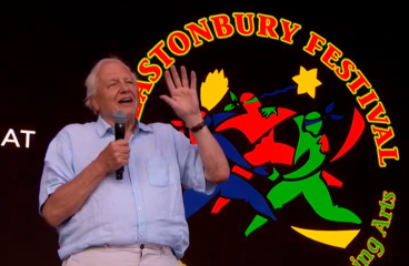 Sir David Attenborough Surprises One of the World's Biggest Festivals To Speak Out Against Pollution