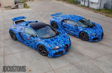 Afrojack Adds Two Blue Camo Bugattis To His Collection