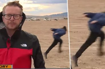 VIDEO: First Naruto Runner Already Spotted At Area 51 Behind Live News Broadcast