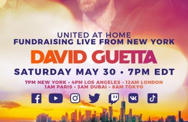 "David Guetta To Host New York's Largest At Home Dance Party With The Second ""United At Home"" Charity Livestream Event"