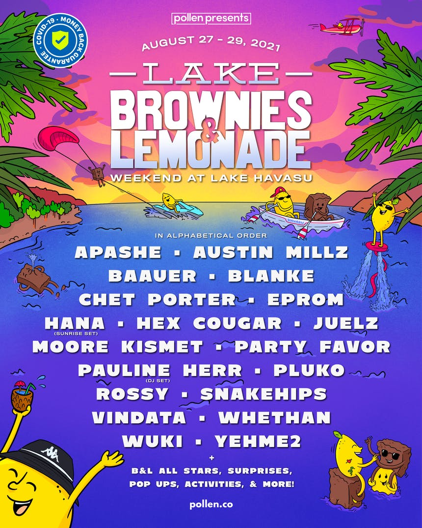 "Brownies & Lemonade ""Weekend at Havasu"" lineup."